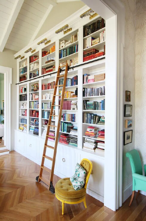 Floor to Ceiling Bookshelf
